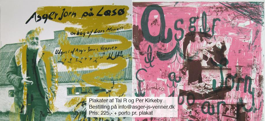 Plakater af Tal R og Per Kirkeby